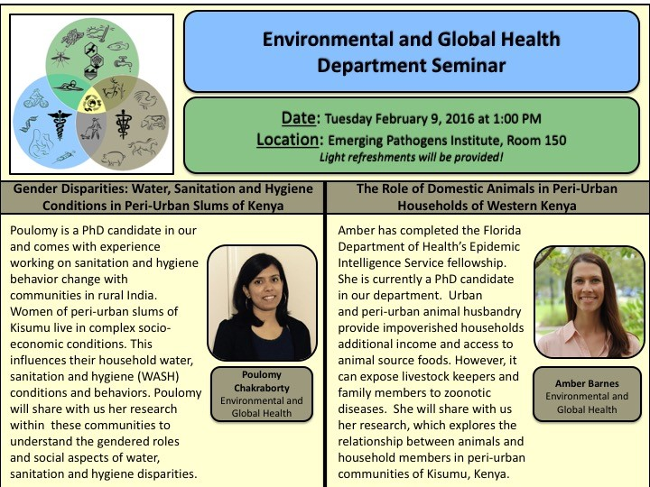 Environmental and Global Health Department Seminar