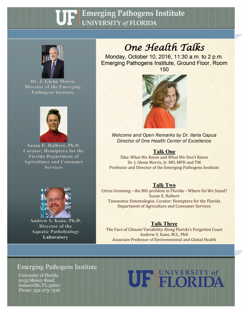One Health Talks — Oct. 10, 2016