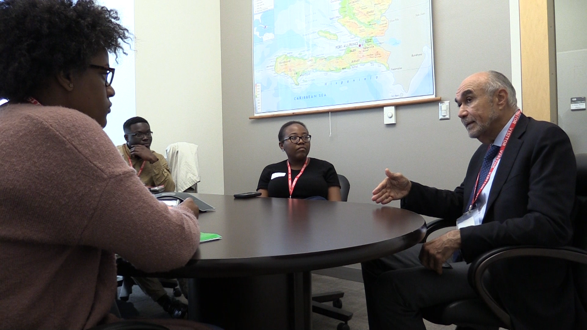 GHESKIO director meets with Haitian student group during EPI Research Day