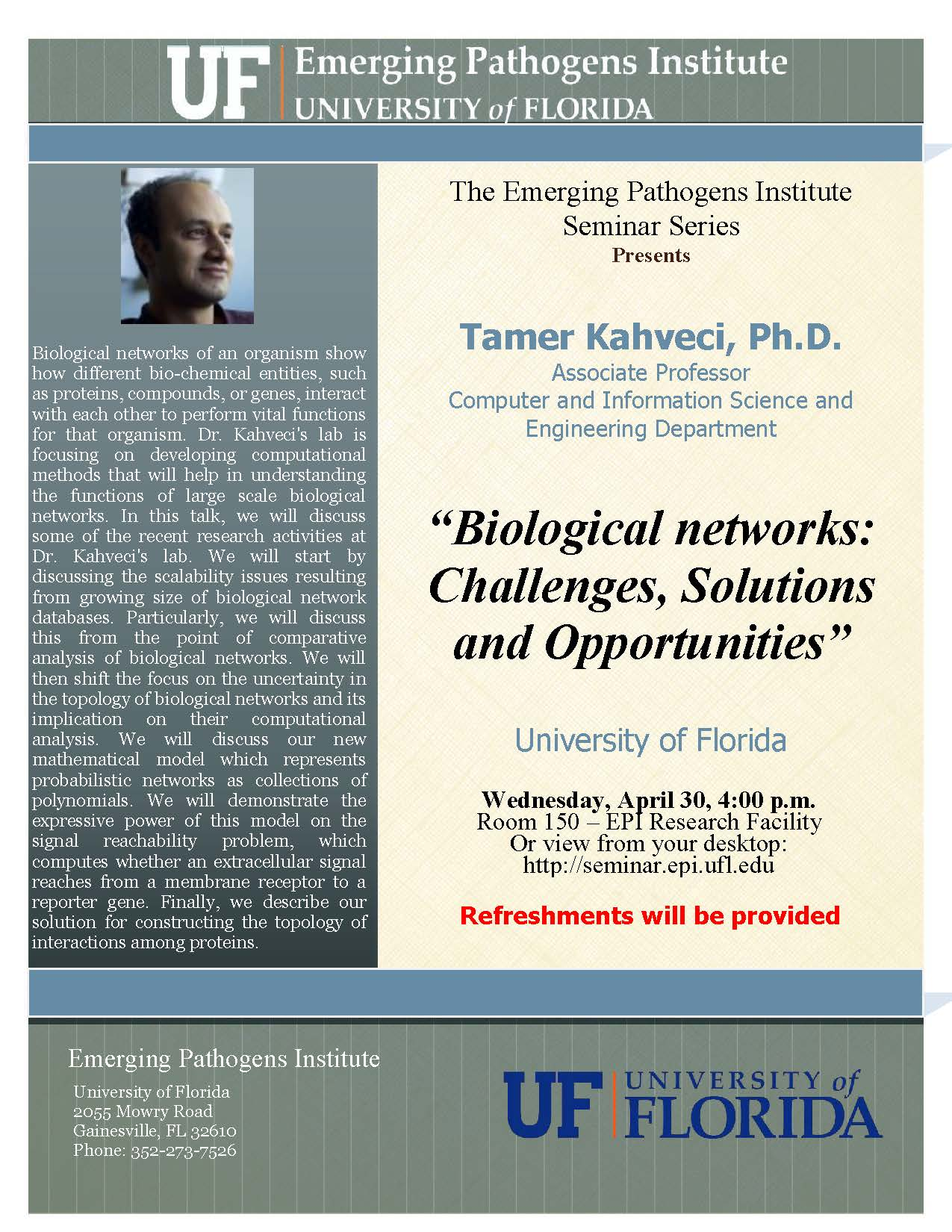 Biological networks: Challenges, Solutions and Opportunities